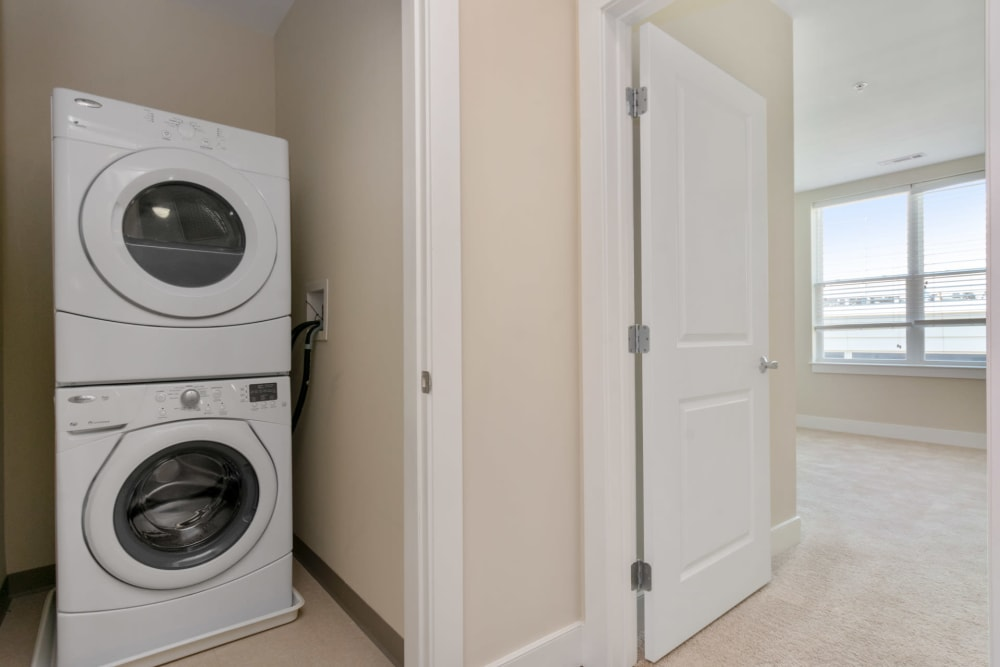 washer and dryer at Riverbend on the Charles in Watertown, Massachusetts