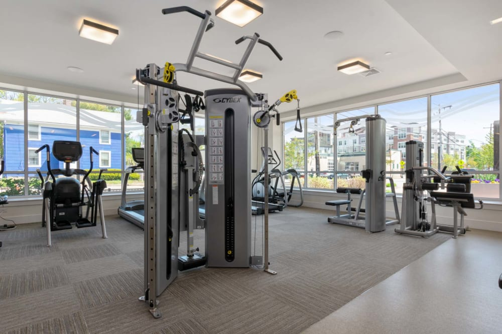 Fitness area at Riverbend on the Charles in Watertown, Massachusetts