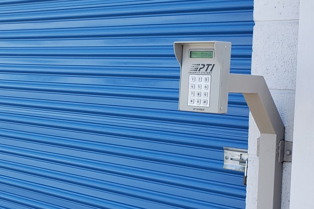Keypad entrance at Storage Etc Diamond Bar
