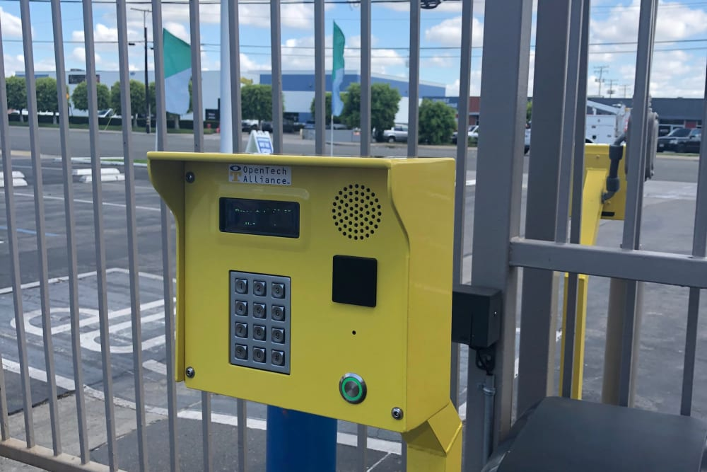 Front gate keypad at Storage Etc... Long Beach