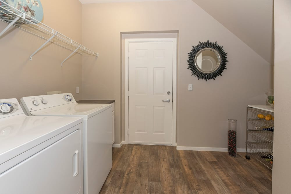 Washer and dryer at Cross Pointe Apartment Homes in Antioch, California