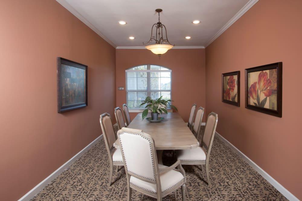 Private Dining room at The Claiborne at Thibodaux in Thibodaux, Louisiana