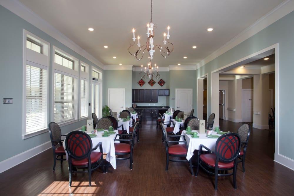 Large side Dining Room at The Claiborne at Thibodaux in Thibodaux, Louisiana