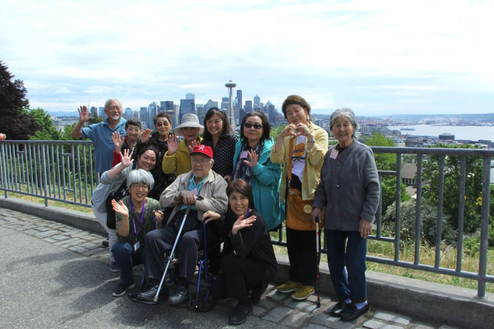 A group outing with the residents at Nikkei Manor in Seattle, Washington