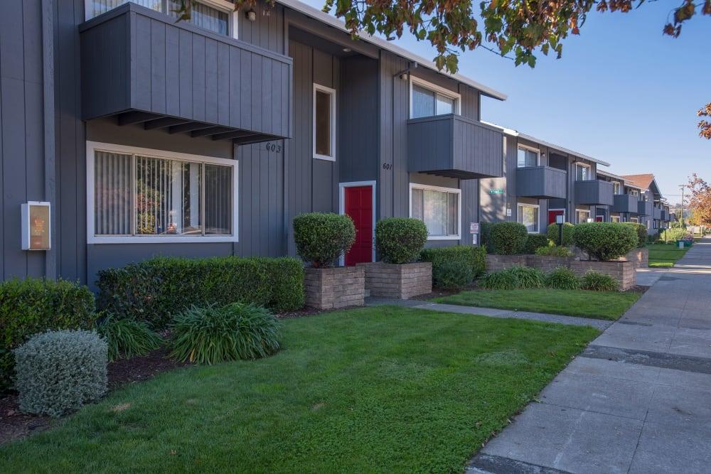 Patios and balconies at Spring Lake Apartment Homes in Santa Rosa, California