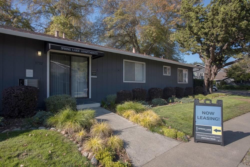 Front office at Spring Lake Apartment Homes in Santa Rosa, California