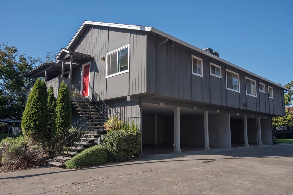 Covered parking spots at Spring Lake Apartment Homes in Santa Rosa, California