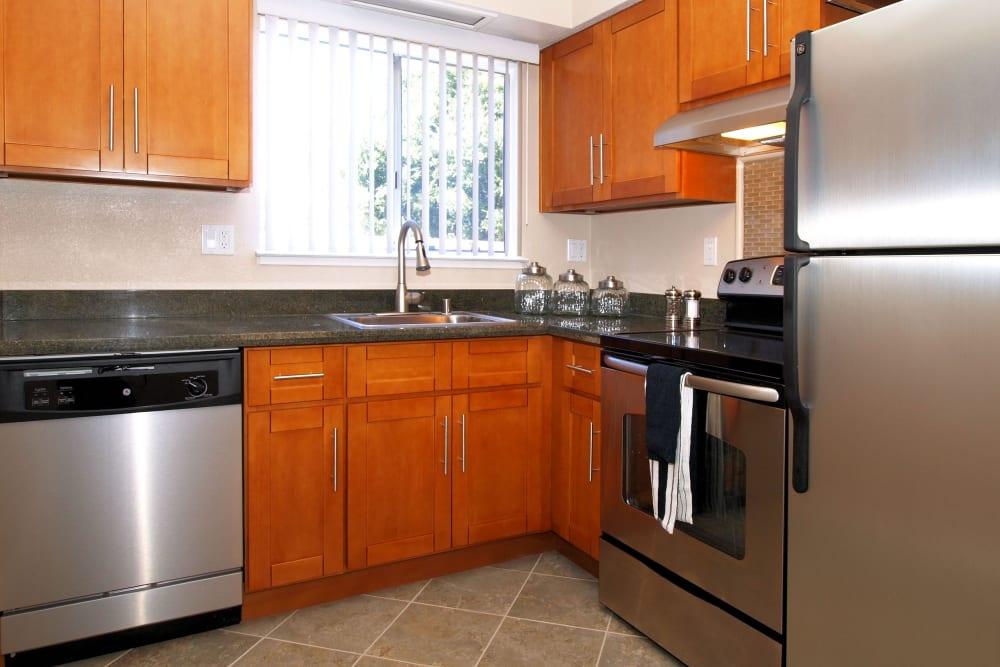 Spacious kitchen area at Spring Lake Apartment Homes in Santa Rosa, California