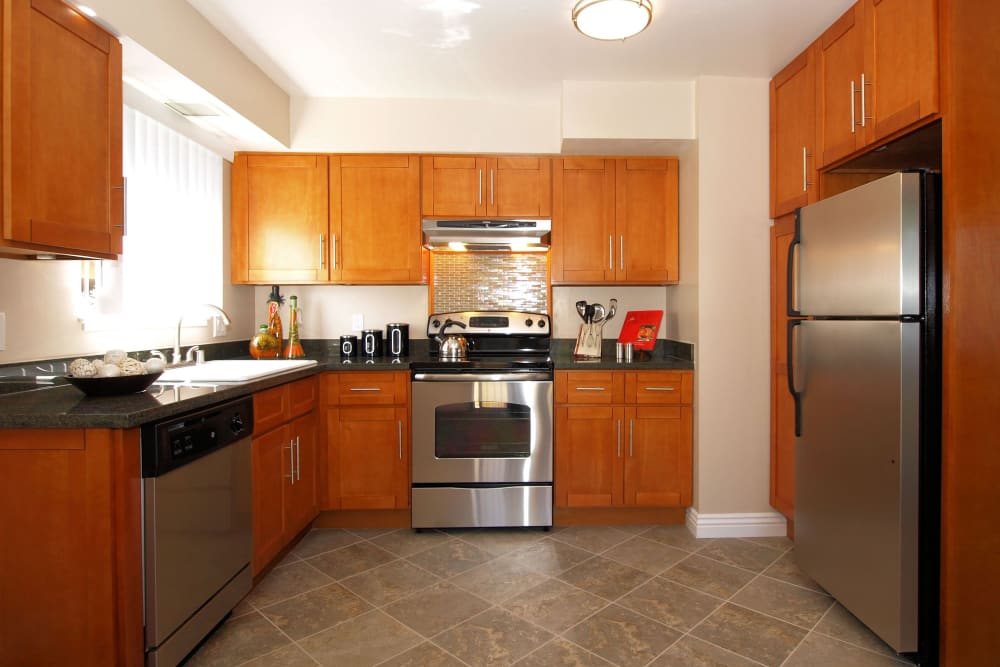Large kitchen at Spring Lake Apartment Homes in Santa Rosa, California