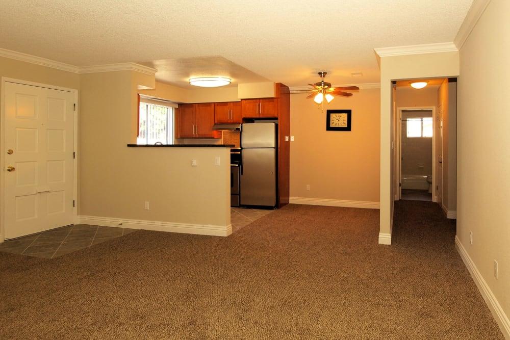 Large and spacious living room at Spring Lake Apartment Homes in Santa Rosa, California