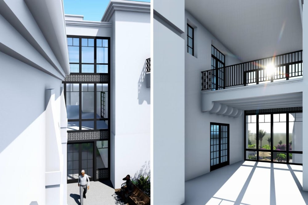 A rendering of the entrance of Elegance at Novato in Novato, California