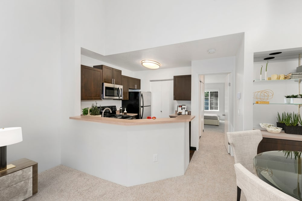 Kitchen with plenty of cabinet space at Autumn Chase Apartments in Vancouver, Washington