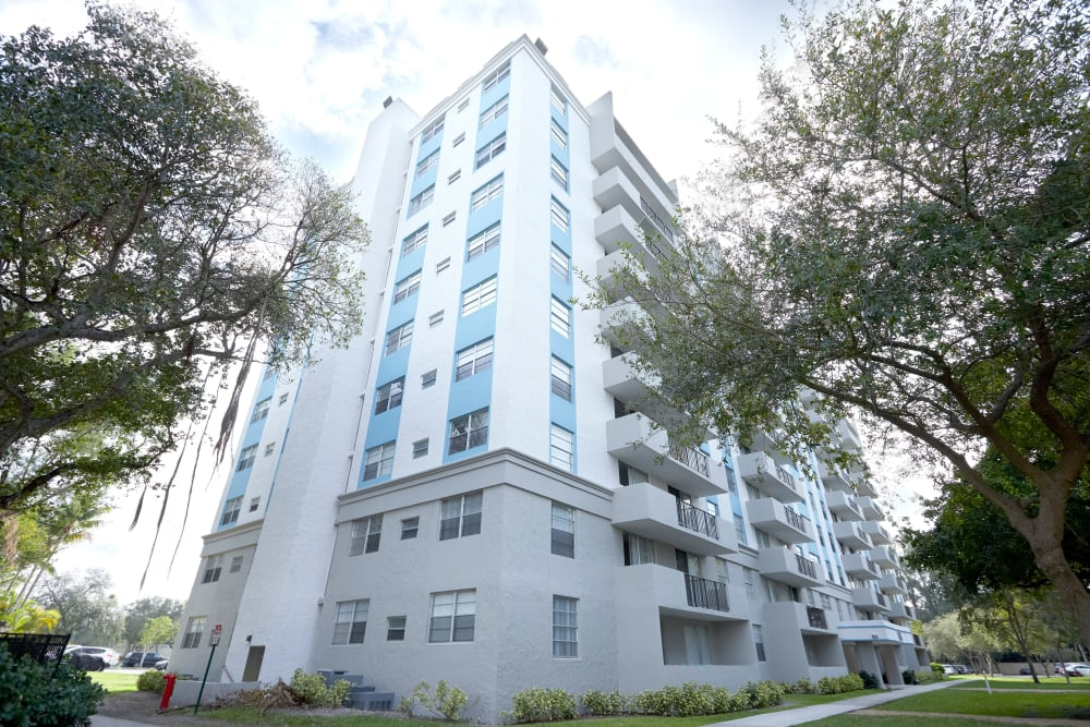 Exterior view of the front of Aliro in North Miami Beach, Florida