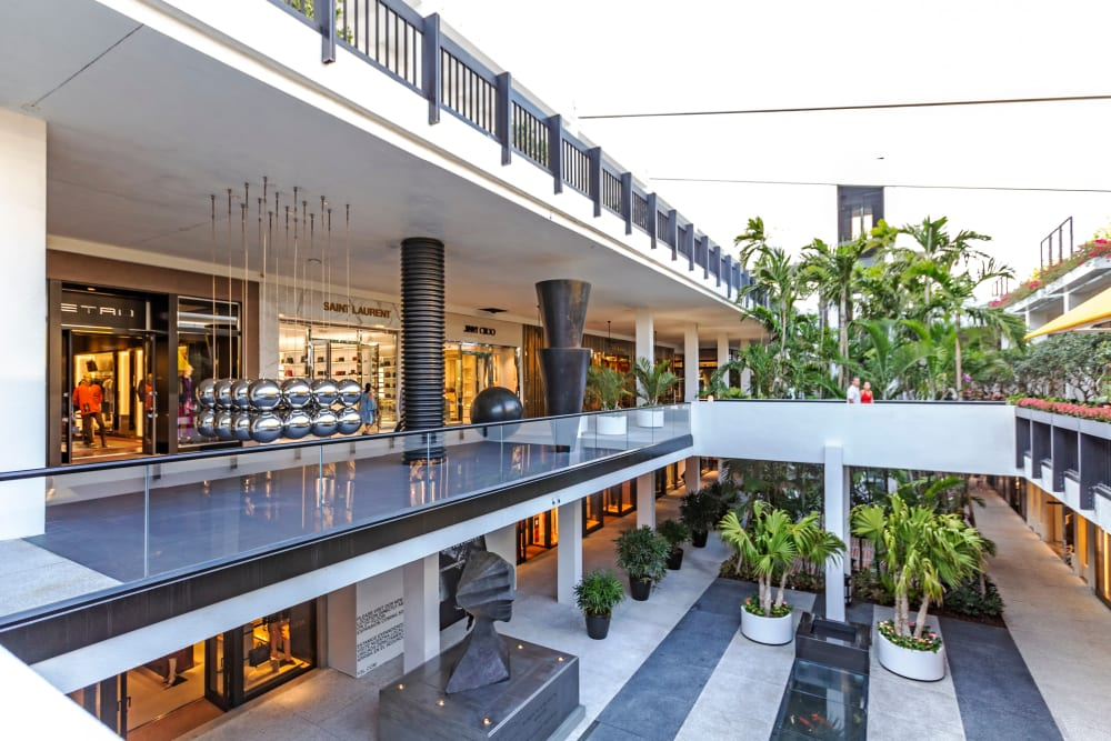 Interior view of the Shops at Bal Harbour near Aliro in North Miami Beach, Florida