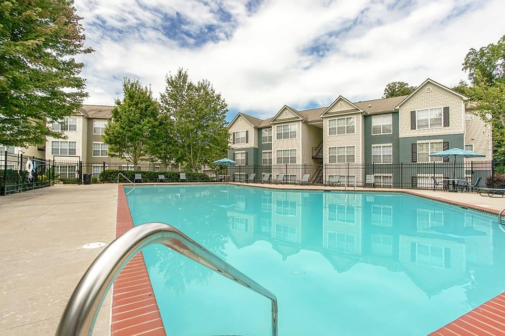 Resort-style swimming pool at Monterey Village in Jonesboro, Georgia