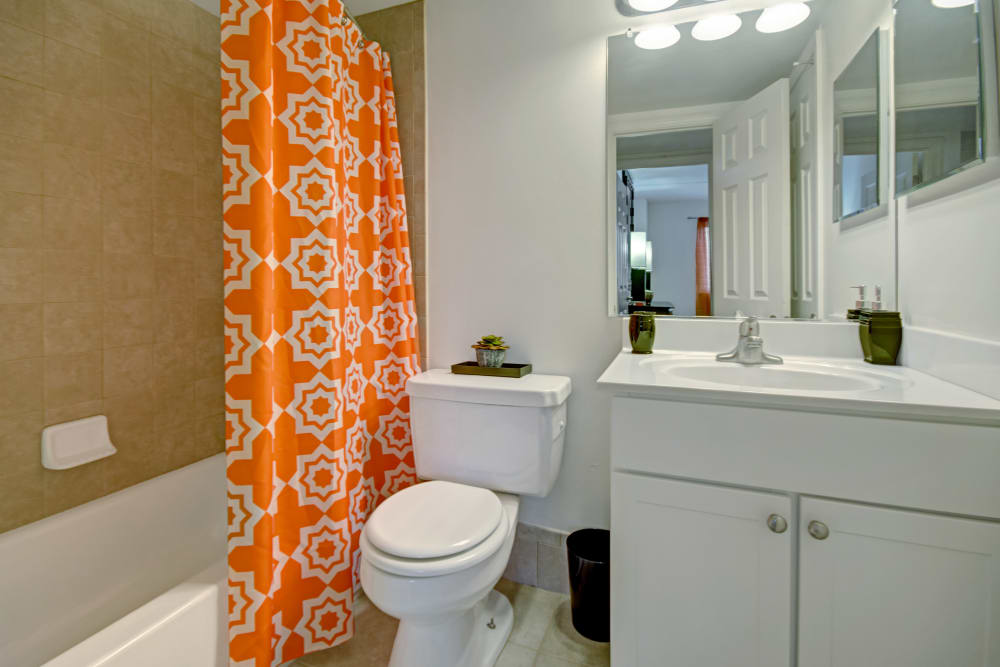 Bathroom at Racquet Club Apartments and Townhomes in Levittown, Pennsylvania