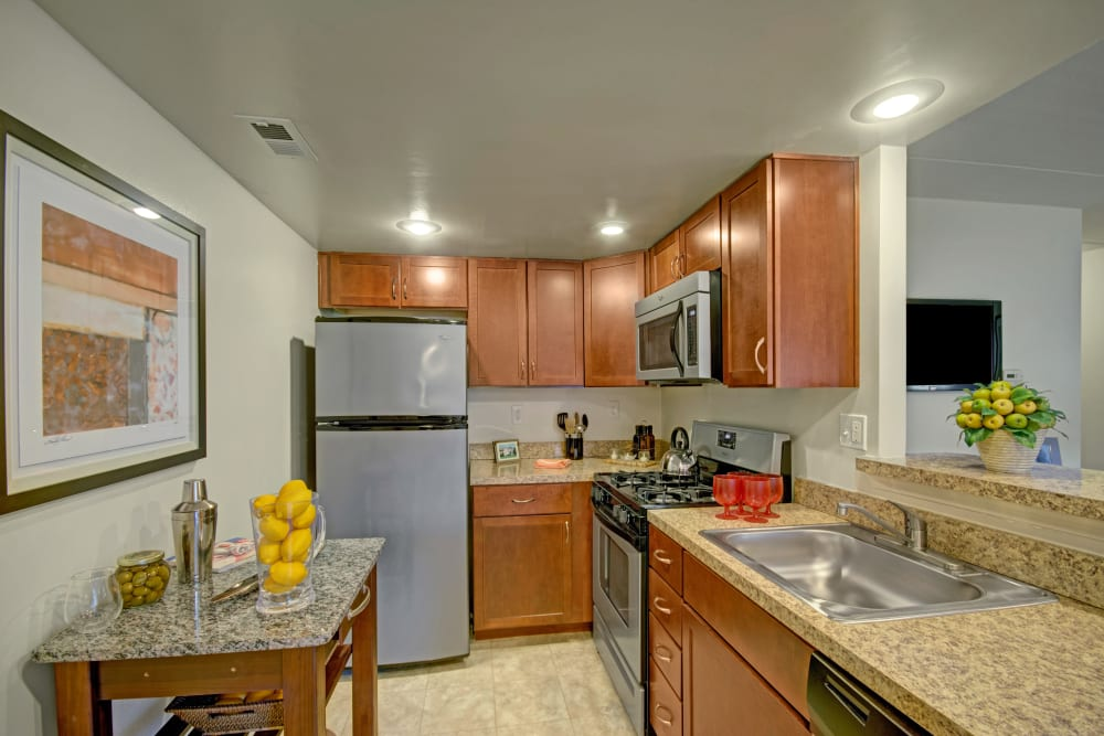 Spacious kitchen at Racquet Club Apartments and Townhomes in Levittown, Pennsylvania
