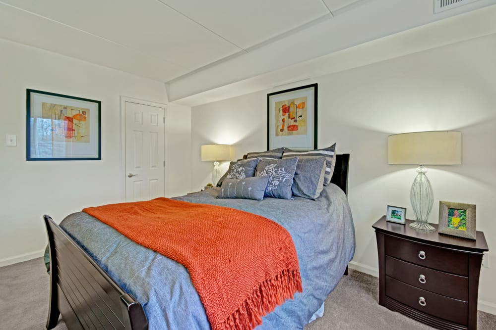 Master bedroom at Racquet Club Apartments and Townhomes in Levittown, Pennsylvania