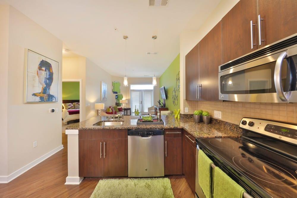 High end kitchen at Palette at Arts District in Hyattsville, Maryland