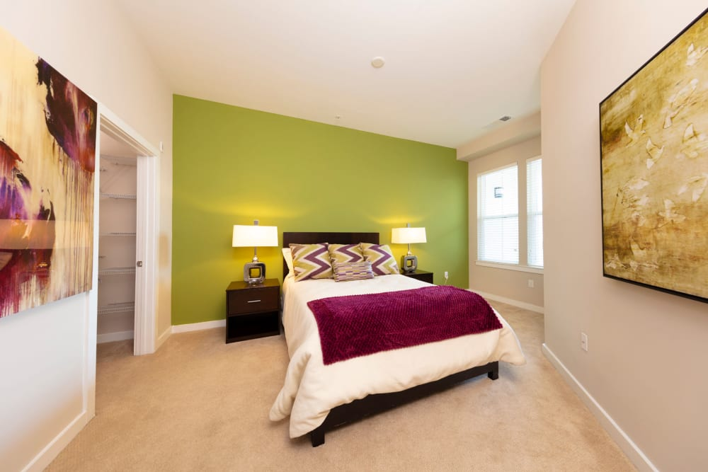 Beautiful second bedroom at Palette at Arts District in Hyattsville, Maryland