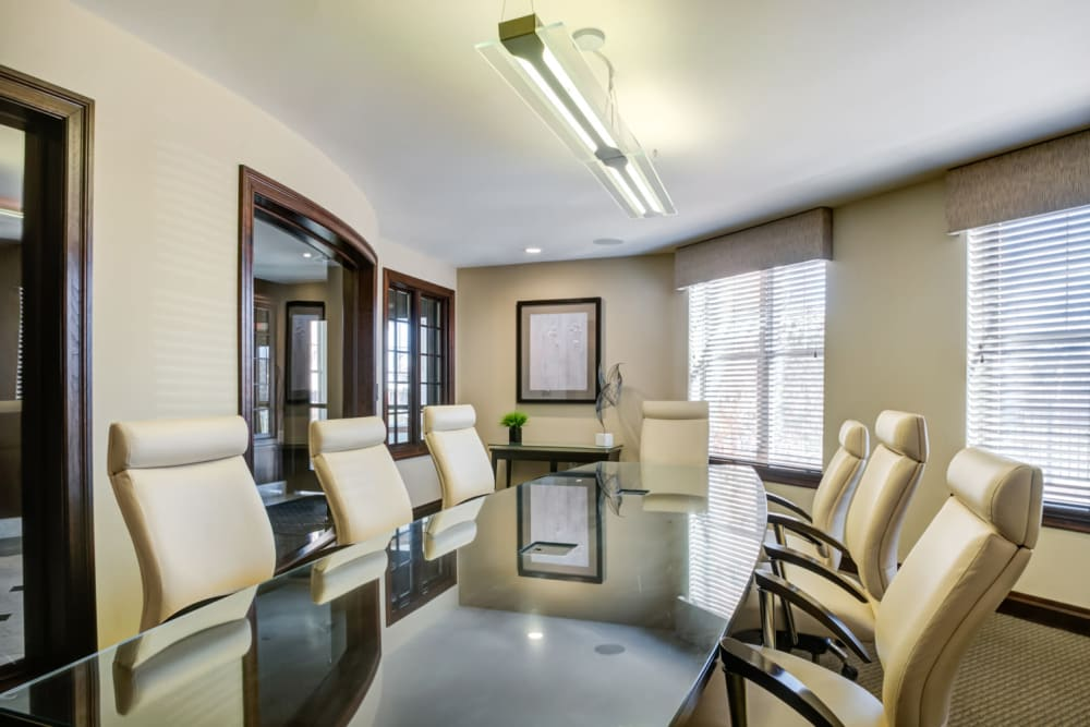 Convenient and spacious meeting room at Sofi at Morristown Station in Morristown, New Jersey