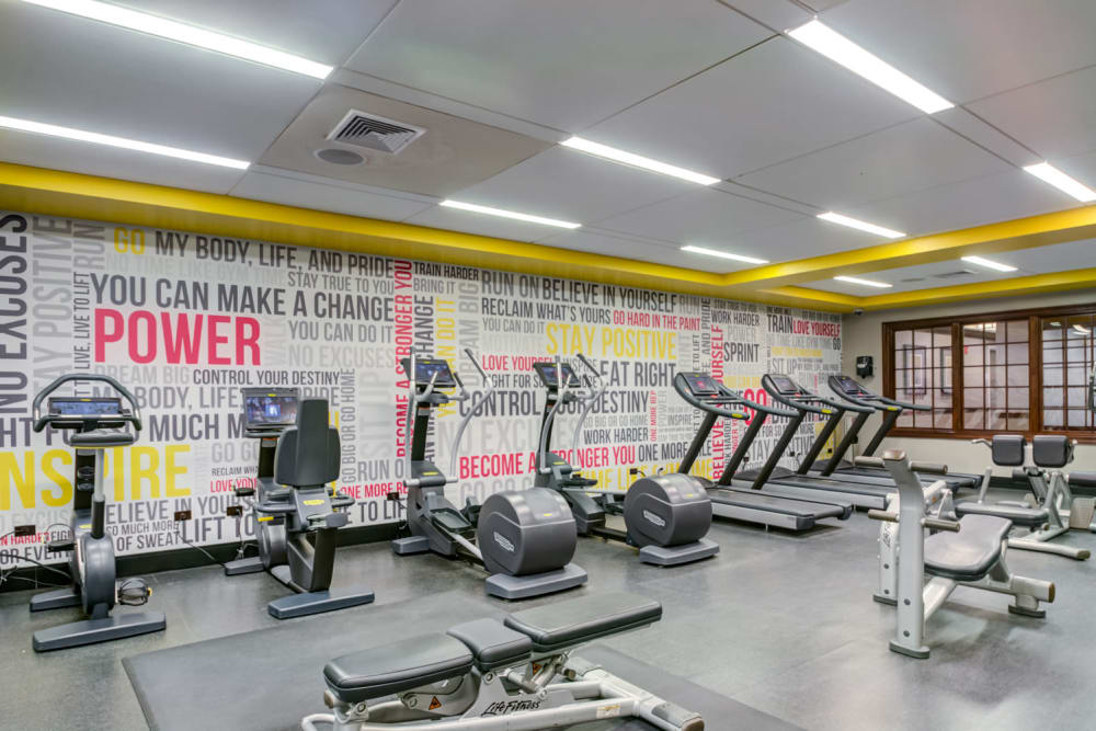 State of the art gym at Sofi at Morristown Station in Morristown, New Jersey