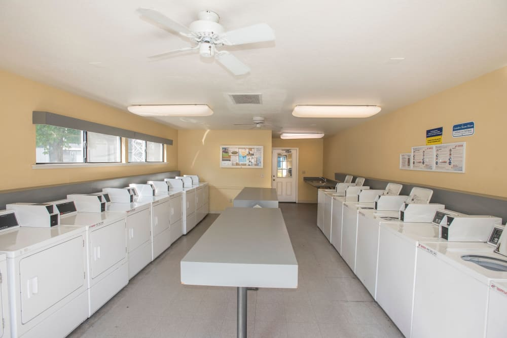 Onsite laundry facility at Park Ridge Apartment Homes in Rohnert Park, California