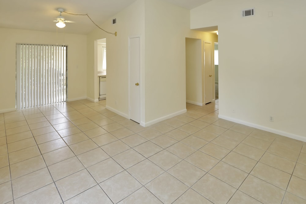 Open floor plan at Stonewood Townhomes in Melbourne, Florida