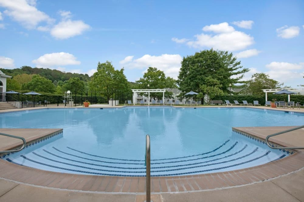 Resort-style swimming pool at Ridgeview at Wakefield Valley in Westminster, Maryland