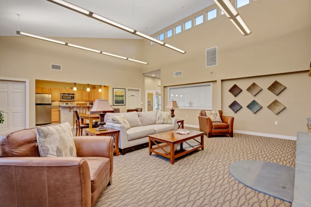 Clubhouse lounge at Ridgeview at Wakefield Valley in Westminster, Maryland