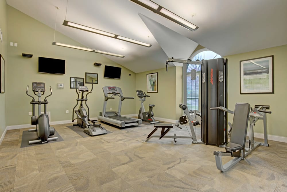 Fitness center at Ridgeview at Wakefield Valley in Westminster, Maryland