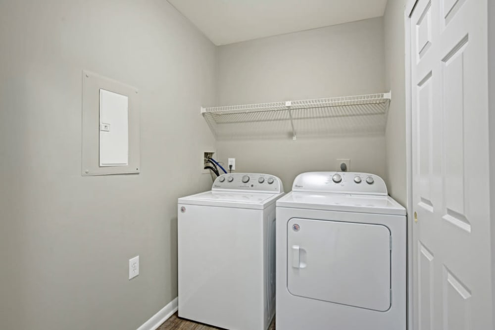 In-home washer and dryer at Ridgeview at Wakefield Valley in Westminster, Maryland