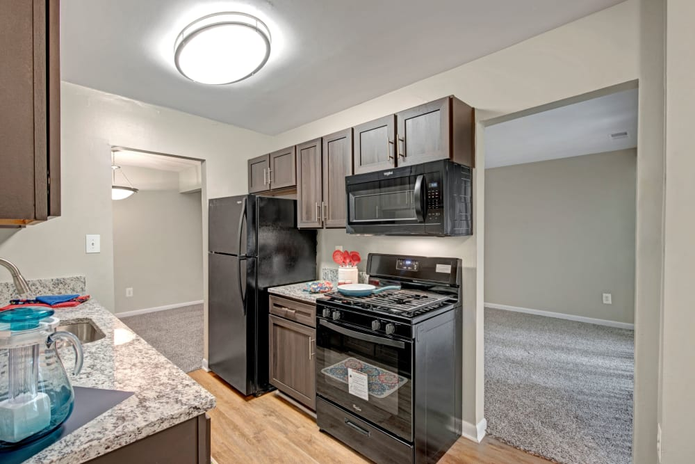 Bright kitchen at West Springfield Terrace in Springfield, Virginia