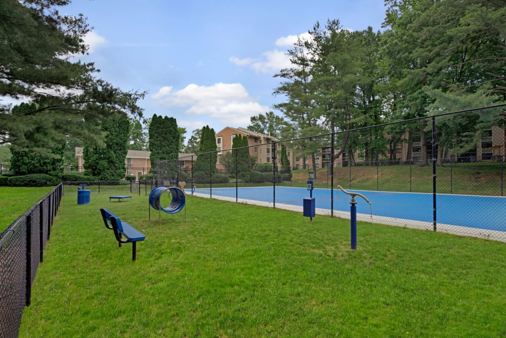 Dog park at West Springfield Terrace in Springfield, Virginia