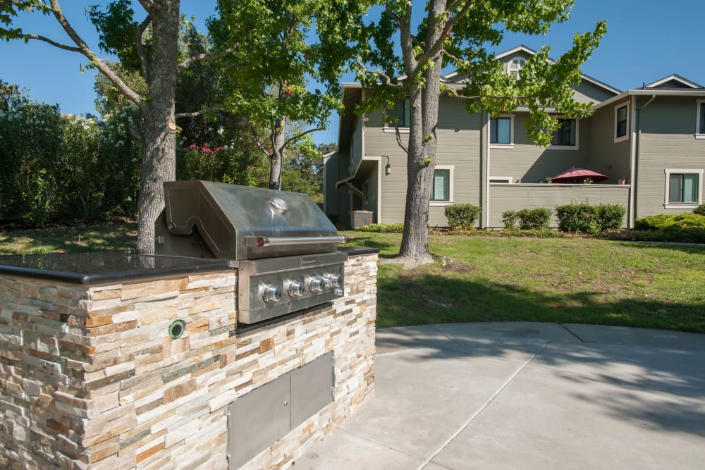 Grilling station for summer picnics at Ridgecrest Apartment Homes in Martinez, California