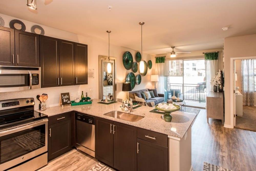 Spacious kitchen at Luxe Scottsdale Apartments in Scottsdale, Arizona