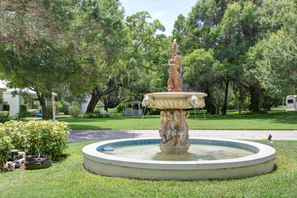 A beautiful fountain at Truewood by Merrill, Bradenton in Bradenton, Florida