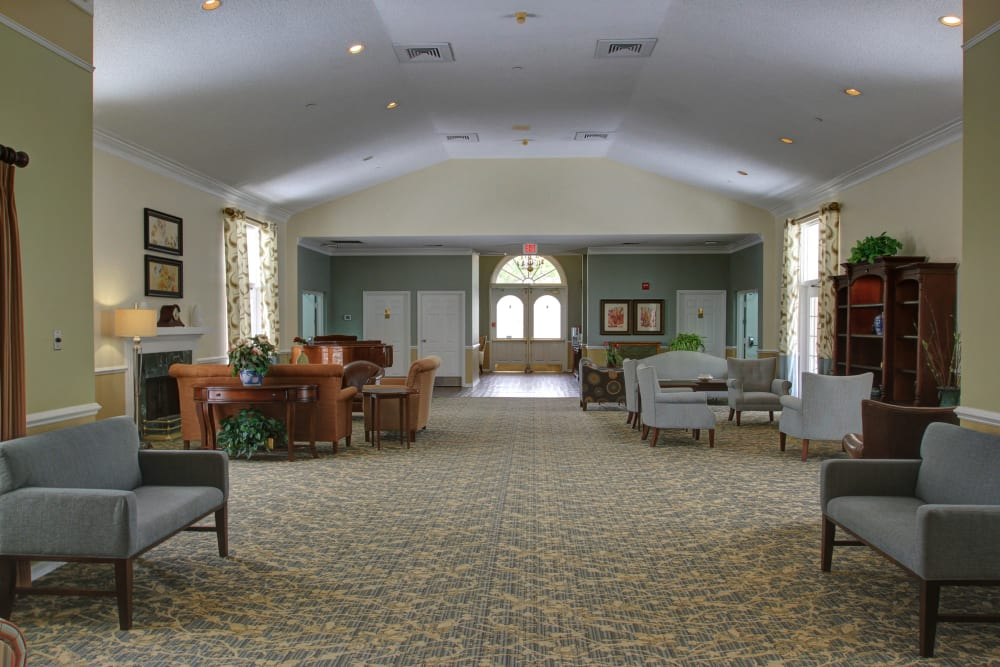 A large lobby at Truewood by Merrill, Bradenton in Bradenton, Florida