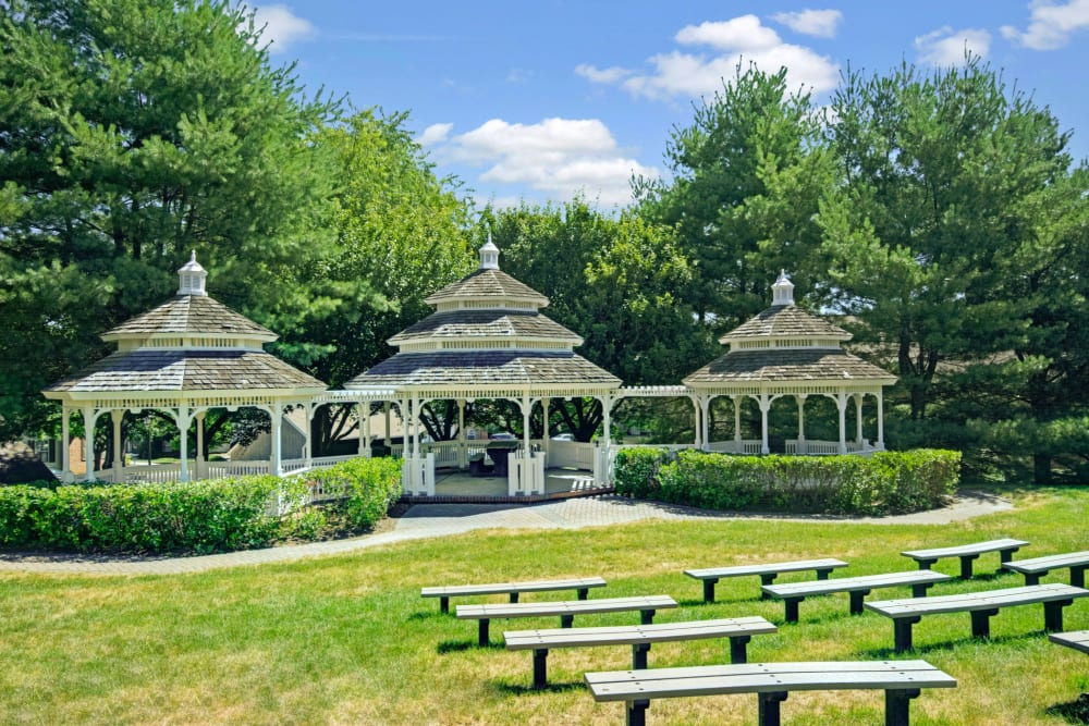 Gazebo area at Exton Crossing in Exton, Pennsylvania