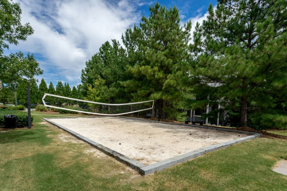 Outdoor volleyball court at Meadow Springs in College Park, Georgia