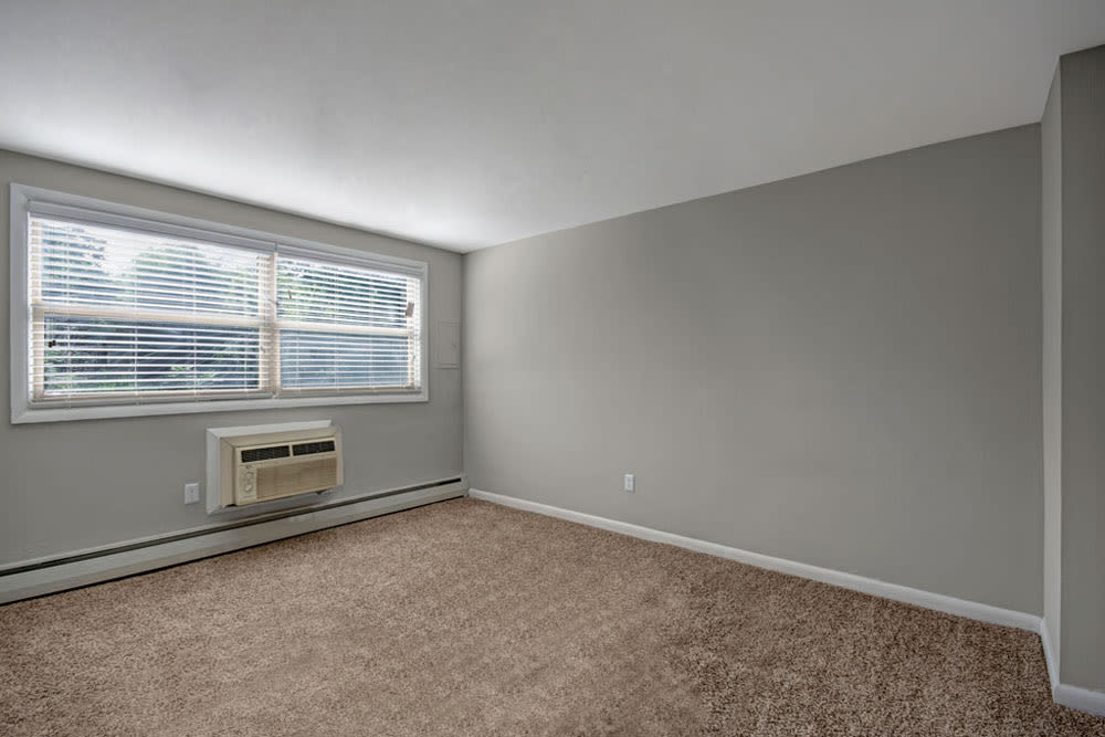 Spacious bedroom with plush carpet at New Orleans Park Apartments in Secane, Pennsylvania