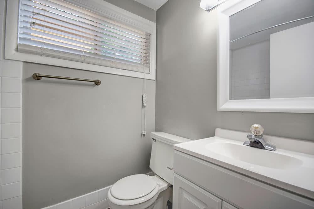 Bathroom at New Orleans Park Apartments in Secane, Pennsylvania