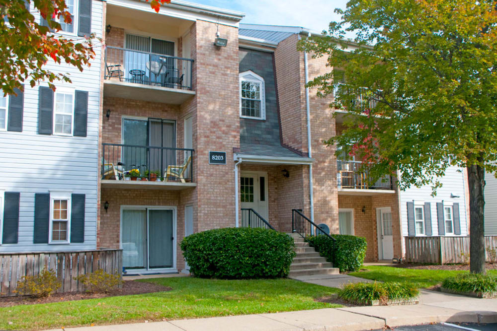 Entrance to an apartment at Brookside View in Gaithersburg, Maryland