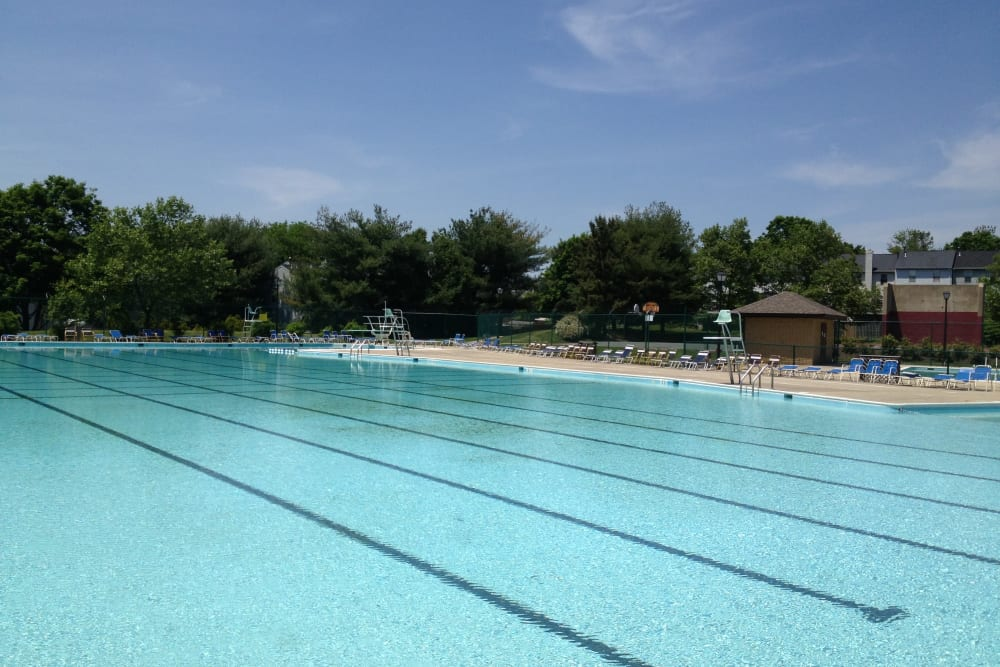 Resort-style swimming pool at Brookside View in Gaithersburg, Maryland