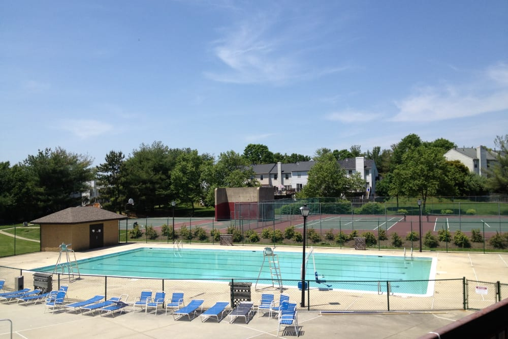 Sparkling swimming pool at Brookside View in Gaithersburg, Maryland