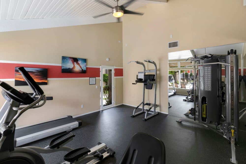 Fitness center at The Heights at Grand Terrace in Grand Terrace, California