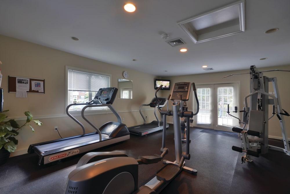 Fitness center for residents at Middlesex Crossing in Billerica, Massachusetts