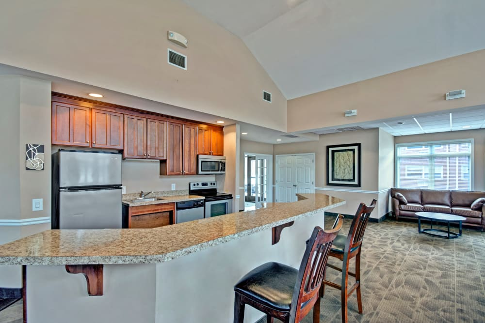 Community kitchen at New Orleans Park Apartments in Secane, Pennsylvania