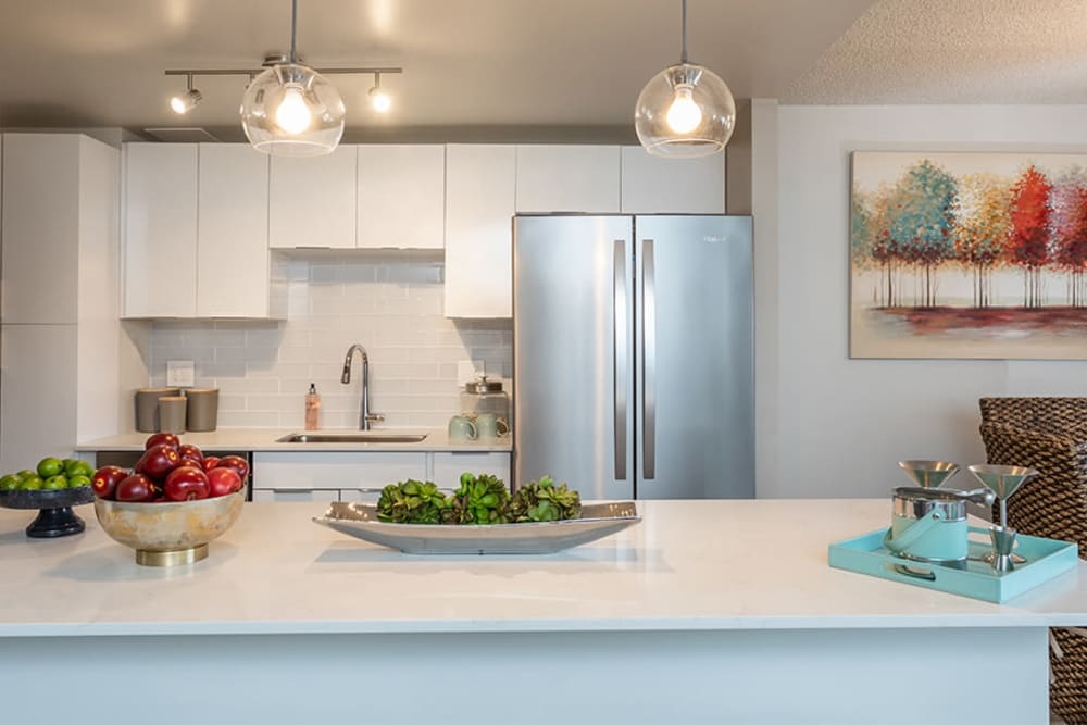 Beautiful kitchen counters at The Venue in Rochester, New York