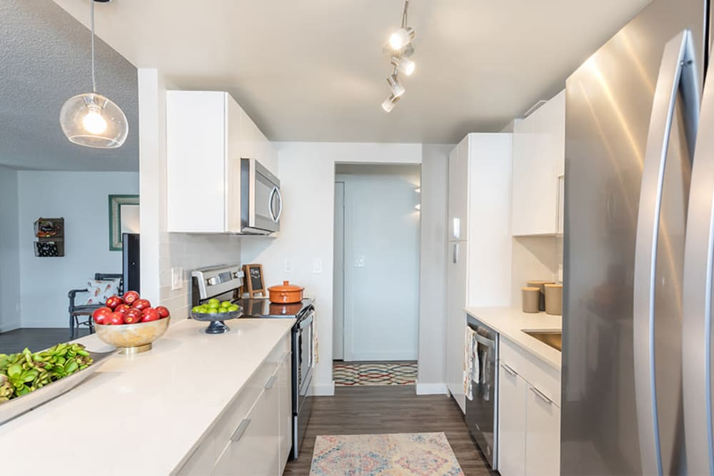 Stainless steel appliances at The Venue in Rochester, New York